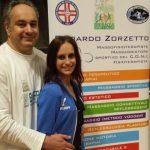 Veronica Bertolini con Edoardo Zorzetto