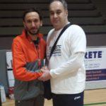 Lucchese Matteo Campione Italiano Assoluto di Ultramaratona ( 100 km ) Seregno 15 / 04 / 2018 - Edoardo Zorzetto Responsabile dello staff tecnico